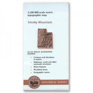 USGS Topo Map: Smoky Mountain 1:100,000